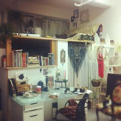 The studio of  Charmaine Olivia, a San Fransico based Artist and Model