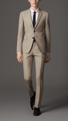 Slim Fit Virgin Wool Suit | Burberry
