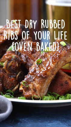 Pork And Beef Recipe, Pork Recipes, Fall Recipes, Real Food Recipes, Bbq Ribs, Pork Ribs, Dry Rub For Ribs, Winter Food, Oven Baked