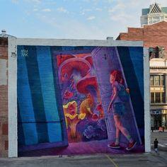 Spellbind Street Art by Natalia Rak.|CutPasteStudio| Illustrations, Entertainment, beautiful,creativity, Artist, Art, Artwork, Street art, murals, Graffiti art.