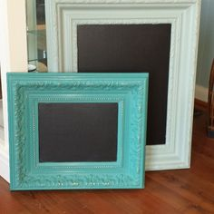 Great way to refresh canvas artwork- turn them into chalkboards w/ Webster's.