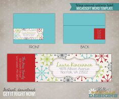 Christmas address labels, Label stickers and Address labels on ...