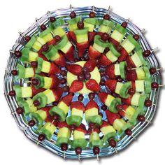 Fruit Kabob Platter Idea