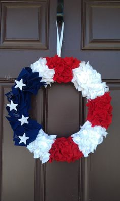 LOVE this for Party Decor  --  4th of July Wreath by celamade on Etsy, $35.00