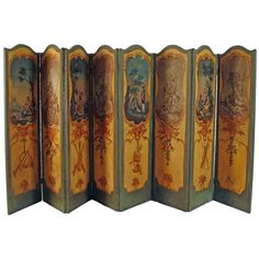 For Sale on - A French eight-panel canvas screen late century, with alternating hand-painted scenes. Each scene alternates from soldiers in various activities Room Divider Screen, Room Screen, Art Decor, Decoration, Dressing Screen, Decorative Screens, Antique Interior, Old Furniture, Luxury Decor