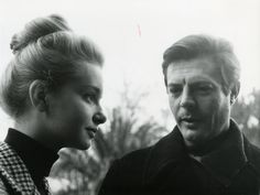 Valeria Ciangottini e Marcello Mastroianni
