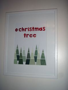 Christmas Tree Paint Chip cards - next year!