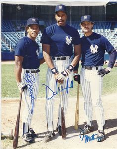 NY Yankees Don Mattingly Rickey Henderson Dave Winfield Autographed Color 8x10 + Bonus by SANDJCRAFTSANDTHINGS on Etsy
