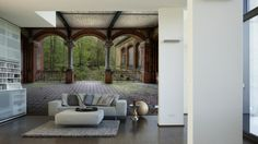 Livingwalls Fototapete Vintage Villa Terrace (XXL) 470281; simuliert auf der Wand