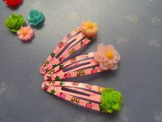 *Flower* 3 Haarclipse mit Blumen von Happy Lilly auf DaWanda.com