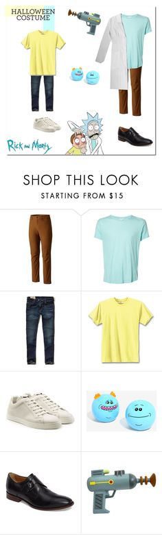 """""""Last-Minute Halloween Costumes : Rick & Morty.. #125"""" by rania-horan-stylinson-palik ❤ liked on Polyvore featuring Mountain Hardwear, Orlebar Brown, Hollister Co., Hanes, Fendi, Johnston & Murphy, men's fashion and menswear"""