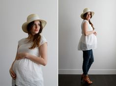 DIY Maternity Peplum Top 1 yard of knit or woven medium to lightweight fabric (make sure it cam flow nicely)