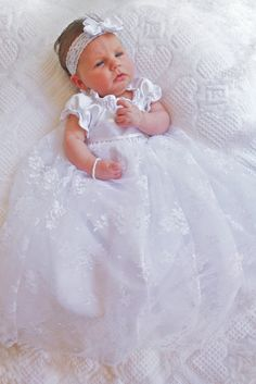 White blessing/christening dress by Bennair on Etsy, $92.00