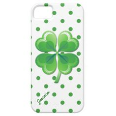 Shamrock and Polka Dots iPhone 5S Case #iphone5case #luckyiphone5case #customiphonecase