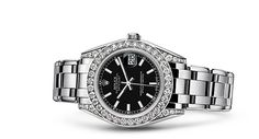Rolex Pearlmaster 34 Watch: 18 ct white gold with lugs set with diamonds - 81159
