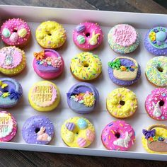 Doughnuts, Easter Baskets, Easter Bunny, Sprinkles, Mini, Desserts, Bunnies, Food, Eggs