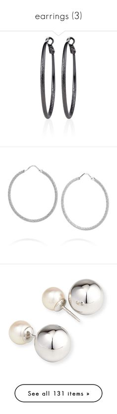 """""""earrings (3)"""" by namelessginger ❤ liked on Polyvore featuring jewelry, earrings, white house black market, nickel free earrings, handcrafted jewelry, nickel free jewelry, nickel free hoop earrings, hoop earrings, sparkly earrings and earring jewelry"""