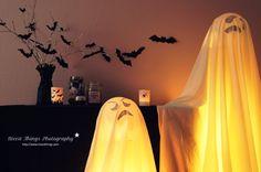 spooky halloween party bats ghosts