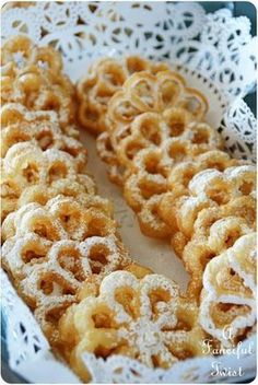 Scandinavian Rosettes; Like dressed-up funnelcakes!