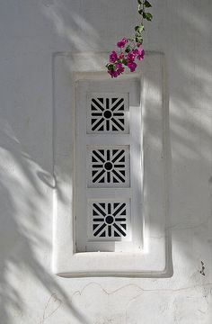 Mykonos - Grate Covered Window by Marcus Frank, via Flickr