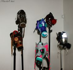 Gas Masks made out of sneakers