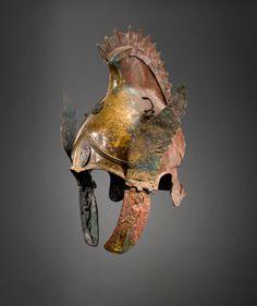 Bronze winged Phrygian-attic helmet, ca 4th century B.C.