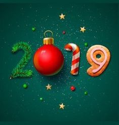 Merry christmas and happy new year 2019 greeting vector Gif&Bilder Silvester&Neujahr Happy New Year Text, Happy New Year Photo, Happy New Year Images, Happy New Year Wishes, Happy New Year Greetings, Happy New Year 2019, Happy Birthday Hand Lettering, Happy Birthday Clip Art, Merry Christmas Wishes