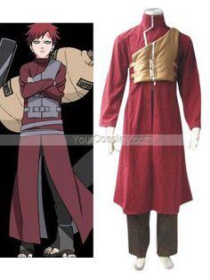 Naruto Shippuden Gaara Red Men's Cosplay Costume, Naruto Cosplay Costumes, Cosplay Costumes