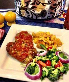 Crockin' Ranch Pork Chops and Squash Casserole recipe - we love our ranch!!