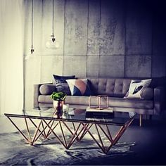 rose gold coffee table - Google Search