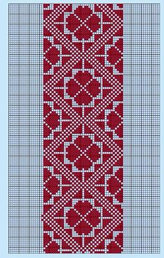 Belarusian ornament Modern Cross Stitch, Cross Stitch Charts, Cross Stitch Designs, Cross Stitch Patterns, Hardanger Embroidery, Hand Embroidery Patterns, Cross Stitch Embroidery, Fair Isle Knitting Patterns, Palestinian Embroidery