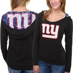 Women's New York Giants Black Sublime Knit Hoodie