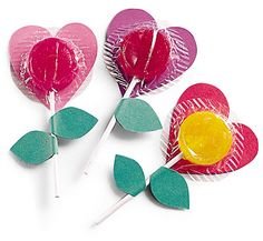 flower lollipops - valentines day
