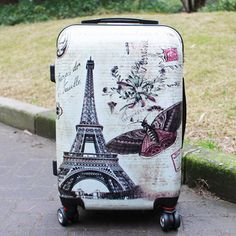4 Wheel Suitcase, Luggage Suitcase, Best Travel Luggage, Cabin Bag, Hardside Luggage, Cool Things To Buy, Stuff To Buy, Vintage Prints, 1 Piece