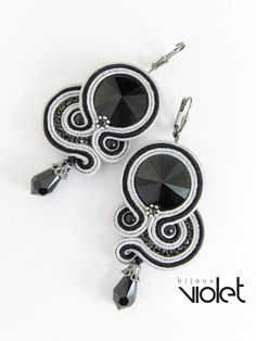 Black Treasury II. soutache earrings by Violetbijoux on Etsy, $49.00