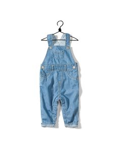 denim dungarees with turn-ups - Collection - Mini (0-9 months) - Kids - ZARA Canada