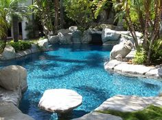Bead Crete 'Caribbean Blue' - tropical - swimming pools and spas - los angeles