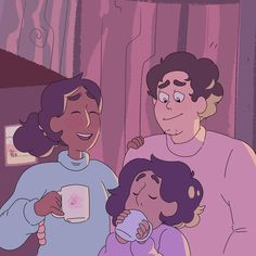 One happy family :') Greg Universe, Steven Universe Comic, Universe Art, Art Sonic, Lapidot, Fan Art, Drawing Reference Poses, Star Vs The Forces Of Evil, Force Of Evil