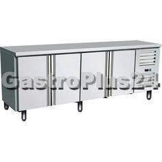 Individuelle Kühltische von GastroPlus24 sind vielseitig einsetzbar und immer eine komplette Lösung. Abmessungen (BxTxH): 2230 x 700 x 850 mm Umluftkühlung mit Ventilator Material: aussen-/innen Edelstahl...