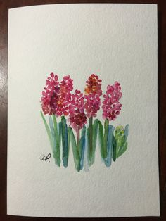 Tiny Flowers Watercolor Card / Hand Painted Watercolor Card This card is an original watercolor not a print. This card is painted Watercolor Paintings For Beginners, Easy Watercolor, Watercolor Cards, Watercolor Flowers, Paint Cards, Painting Inspiration, Painting & Drawing, Art Drawings, Artsy