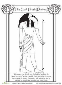 Worksheets: Egyptian God Thoth