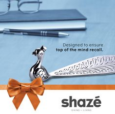 In the corporate world, top of the mind means top of the list.  And a unique gift like this silver plated Peacock Paperweight is the best way to stand out from the rest and make a strong impression in the minds of your prospective partners.  For more gifting options visit www.shaze.in