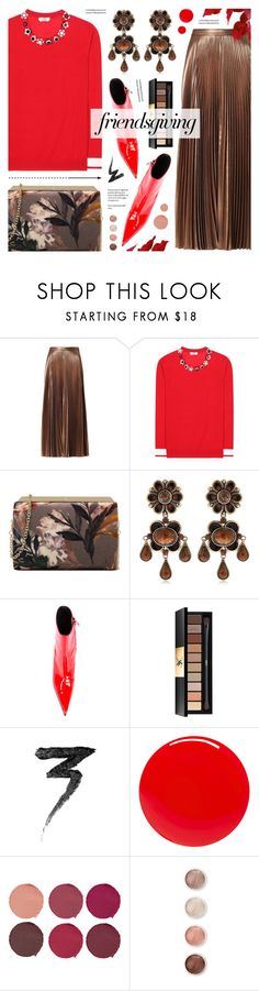 """""""Gather 'Round: Friendsgiving"""" by anyasdesigns ❤ liked on Polyvore featuring A.L.C., Fendi, Nine West, Etro, MISBHV, Yves Saint Laurent, Manic Panic NYC, Tom Ford, Pat McGrath and Terre Mère"""