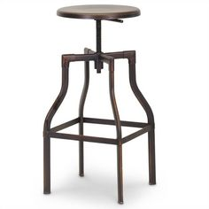 Lowest price online on all Architect's Industrial Bar Stool in Antiqued Copper - M-94142-30AC-BS