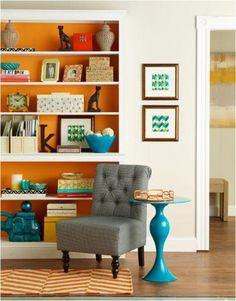 orange backs of bookshelves#OPIEuroCentrale #MyPaprikaIsHotterThanYours