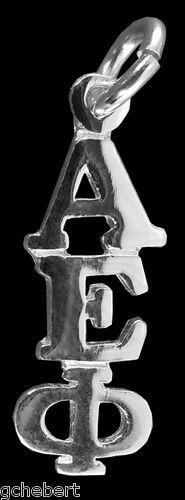 Alpha Epsilon Phi Sterling Silver Greek Drop Letter Lavalier Classic Pendant NEW