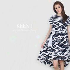 Muslim Evening Dresses, Sequin Evening Dresses, Long Sleeve Evening Dresses, Model Dress Batik, Batik Dress, Batik Fashion, Ethnic Fashion, Amarillis, Short Gowns