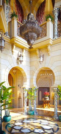 Fendi Color in Decoration - 60 Photos Incredible - Home Fashion Trend Islamic Architecture, Interior Architecture, Interior And Exterior, Interior Design, Moroccan Design, Moroccan Style, Design Marocain, Morrocan Decor, Riad Marrakech