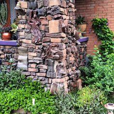 Clinker Brick Column on Porch