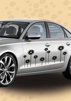 Give a stylish, floral feel to your car, with this easy-to-apply car decal. Get it only on http://www.gloob.in/decals/flowers.html